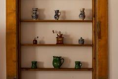 Traditionelle keramische Gegenstände von Siebenbürgen Stockfotografie