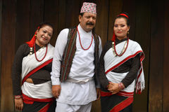 Traditionelle Kleidung Newar Stockbild