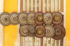 Traditionelle kolumbianische Hüte stockfotos