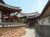 Traditionelle koreanische Häuser Stockfotografie