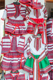 Traditionelle Kostüme Rumäniens stockfotografie