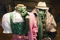 Traditionelle Kostüme von Tirol lizenzfreies stockfoto