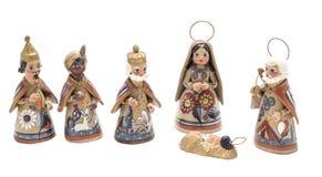 Traditionelle Krippe mit magischen Königen Stockfotos