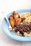 Traditionelle kubanische Mahlzeit lizenzfreies stockfoto