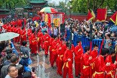 Traditionelle Kultur-Parade Lizenzfreie Stockfotos