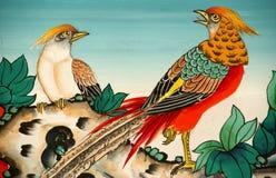 Traditionelle Kunst auf der Wand Stockbild