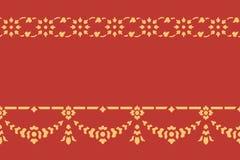 Traditionelle Kunst des goldenen thailändischen Artmusters lizenzfreie abbildung