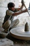 Traditionelle Kunstfertigkeit in einem indischen Dorf Stockfotos
