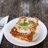 Traditionelle Lasagne Lizenzfreie Stockbilder