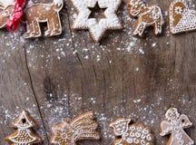 Traditionelle Lebkuchenplätzchen stockbild