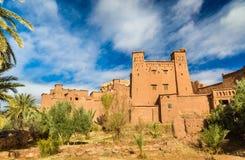 Traditionelle Lehmhäuser in Ait Ben Haddou-Dorf, ein UNESCO-Bauerbe in Marokko Lizenzfreie Stockfotografie