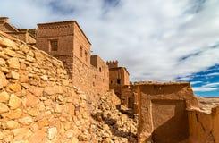 Traditionelle Lehmhäuser in Ait Ben Haddou-Dorf, ein UNESCO-Bauerbe in Marokko Stockfoto