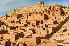 Traditionelle Lehmhäuser in Ait Ben Haddou-Dorf, ein UNESCO-Bauerbe in Marokko Lizenzfreies Stockbild