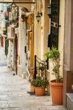 Traditionelle maltesische Architektur Stockfoto