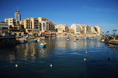Bucht St. Julians, Malta Lizenzfreies Stockfoto