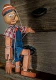 Traditionelle Marionetten gemacht vom Holz in der Weinleseart Lizenzfreie Stockfotografie