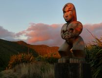 Maori- Schnitzen Lizenzfreie Stockfotografie