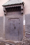Traditionelle marokkanische Tür stockfotografie