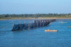 Traditionelle Methode, zum des Aals in Taiwan zu fangen Stockbild