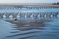Traditionelle Methode, zum des Aals in Taiwan zu fangen Lizenzfreie Stockbilder