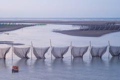 Traditionelle Methode, zum des Aals in Taiwan zu fangen Lizenzfreie Stockfotos