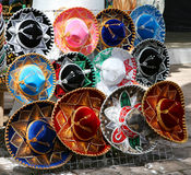 Traditionelle mexikanische Hüte Stockfotos