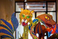 Traditionelle mexikanische Kunst alebrije Folklore Stockfoto