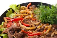 Traditionelle mexikanische Rindfleisch Fajitas lizenzfreie stockfotos