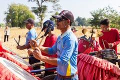 Traditionelle Musikerband Thailands, die Volksmusik spielt Lizenzfreie Stockfotos