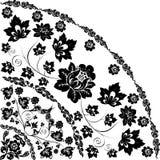 Traditionelle Musterecke mit Blume Lizenzfreie Stockfotografie