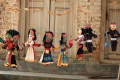 Traditionelle nepalesische Marionetten in Nepal, Marionette in Kathmandu stockfoto