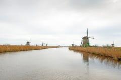 Traditionelle niederländische Windmühle Stockfotos