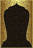 Traditionelle Osmanegoldauslegung lizenzfreie abbildung