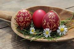 Traditionelle Ostern-Dekoration Stockfotografie