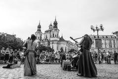 Traditionelle Parade von Bändern am Adler in Prag Lizenzfreie Stockbilder