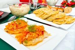 Traditionelle polnische Nahrung für Weihnachtsabend Lizenzfreie Stockfotografie
