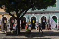 Traditionelle portugiesische Kolonialarchitektur im Sao Luis auf Brasilien stockfotos
