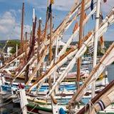 Traditionelle provencal Segelboote nannten pointus, Bandol stockbild