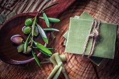 Traditionelle reine Olivenölseife von Griechenland Lizenzfreie Stockbilder