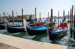 Traditionelle reizende Ansicht von Venedig stockbild