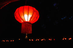 Traditionelle rote chinesische Lampen Stockbild