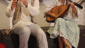 Traditionelle rumänische Instrumente Stockbilder