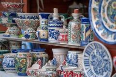 Traditionelle rumänische Keramik lizenzfreie stockfotos