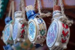 Traditionelle rumänische keramische Flaschen Stockfoto