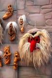 Traditionelle rumänische Masken Lizenzfreies Stockfoto