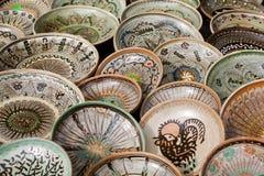 Traditionelle rumänische Tonwaren Stockbilder