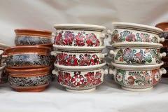 Traditionelle rumänische Tonwaren Stockfoto