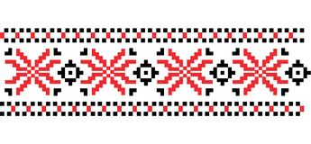 Traditionelle rumänische Volkskunst gestricktes Stickereimuster Vektor Stockfoto