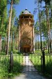 Traditionelle russische Bauholzkirche Stockfoto