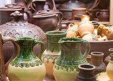 Traditionelle russische Keramik stockfotos